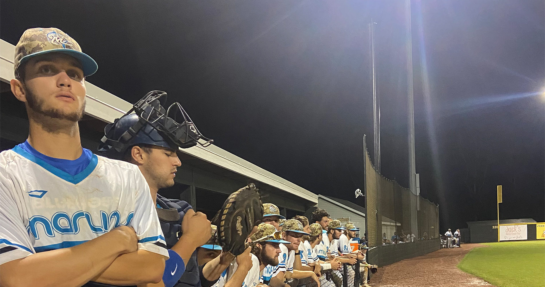 Bananas rally late, Marlins fall in Game 1 at The Rock